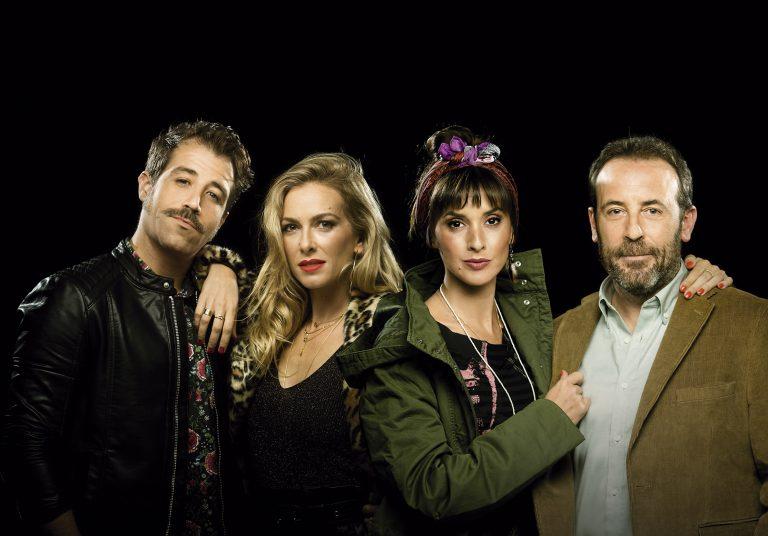 Leo Rivera, Kira Miró, Marina San José y Antonio Molero en Escape Room