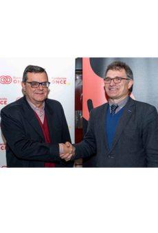 Firma del acuerdo entre Fundación Smedia y Fundación ONCE para la accesibilidad de personas con discapacidad al teatro