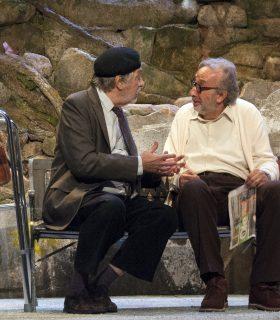 Luis Brandoni y Eduardo Blanco interpretan Parque Lezama en el Teatro Fígaro