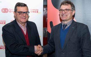 José Luis Martínez Donoso, director general de Fundación ONCE, y Enrique Salaberria, presidente de Grupo Smedia.